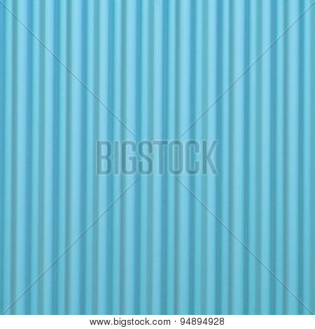 Blue corrugated metal background and texture surface