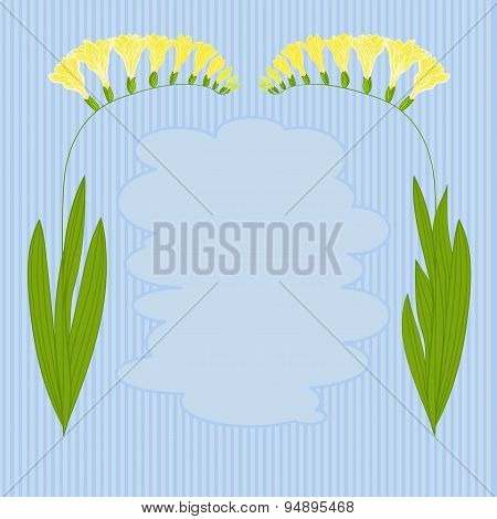Vector image of colorful flowers