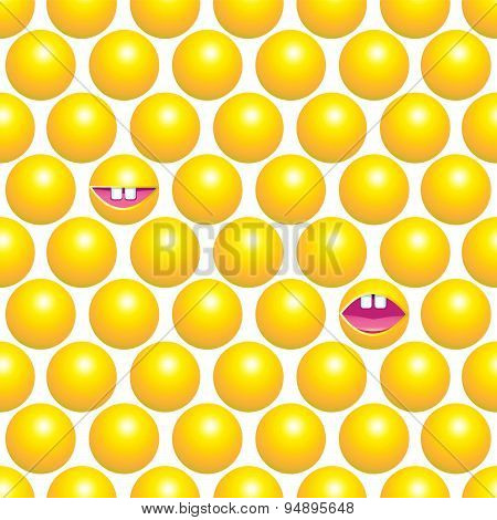 Abstract Seamless Pattern With Yellow Circles