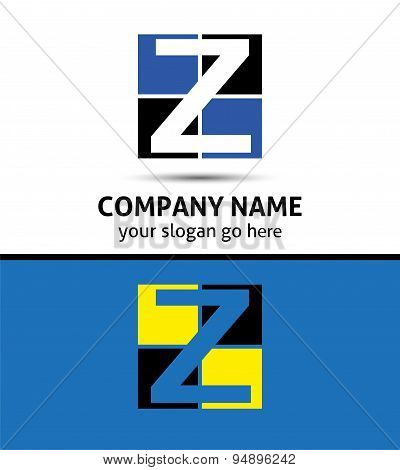 Letter Z logo symbol template elements