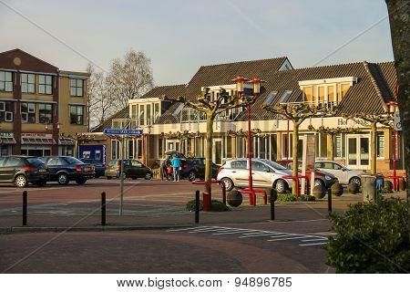 People And Cars On The Parking Lot On The Street Prinses Marijkeweg In Meerkerk, Netherlands
