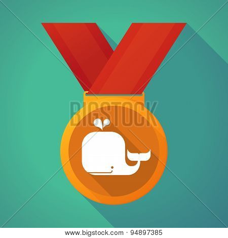 Long Shadow Medal With A Whale