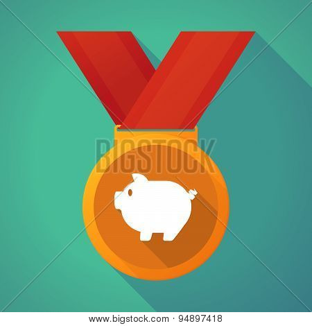 Long Shadow Medal With A Pig