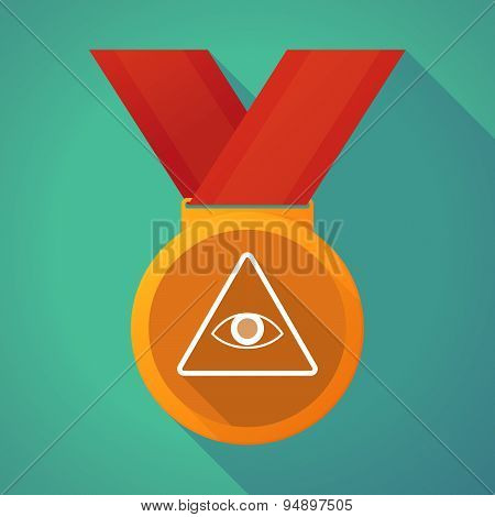 Long Shadow Medal With An All Seeing Eye