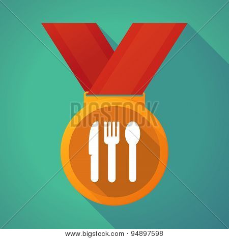 Long Shadow Medal With Cutlery