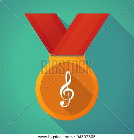 Long Shadow Medal With A G Clef