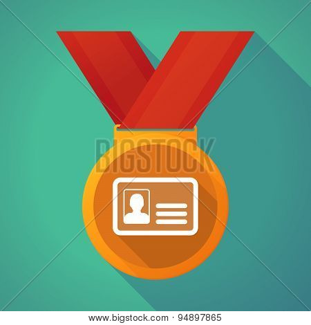 Long Shadow Medal With An Id Card