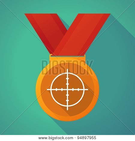 Long Shadow Medal With A Crosshair