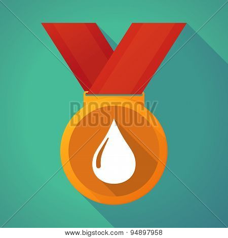 Long Shadow Medal With A Fuel Drop