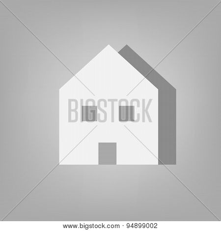 House Icon Relief Vector