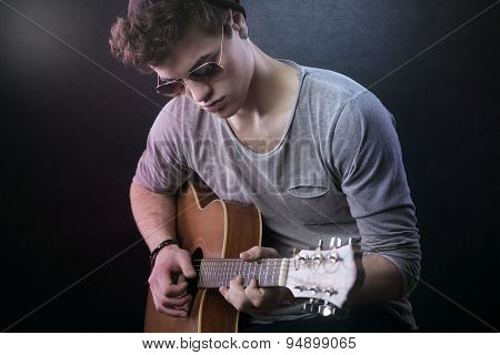 Young Guitarist Performing