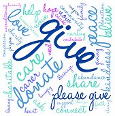 pic of give thanks  - Give word cloud on a white background - JPG