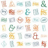 image of ampersand  - Ampersands and catchwords the by and  with or for to at from - JPG