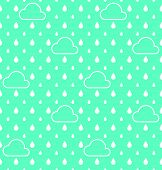 picture of raindrops  - White Raindrops and white cloud pattern vector background - JPG