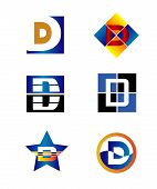 pic of letter d  - Corporate Logo D Letter company vector design template - JPG