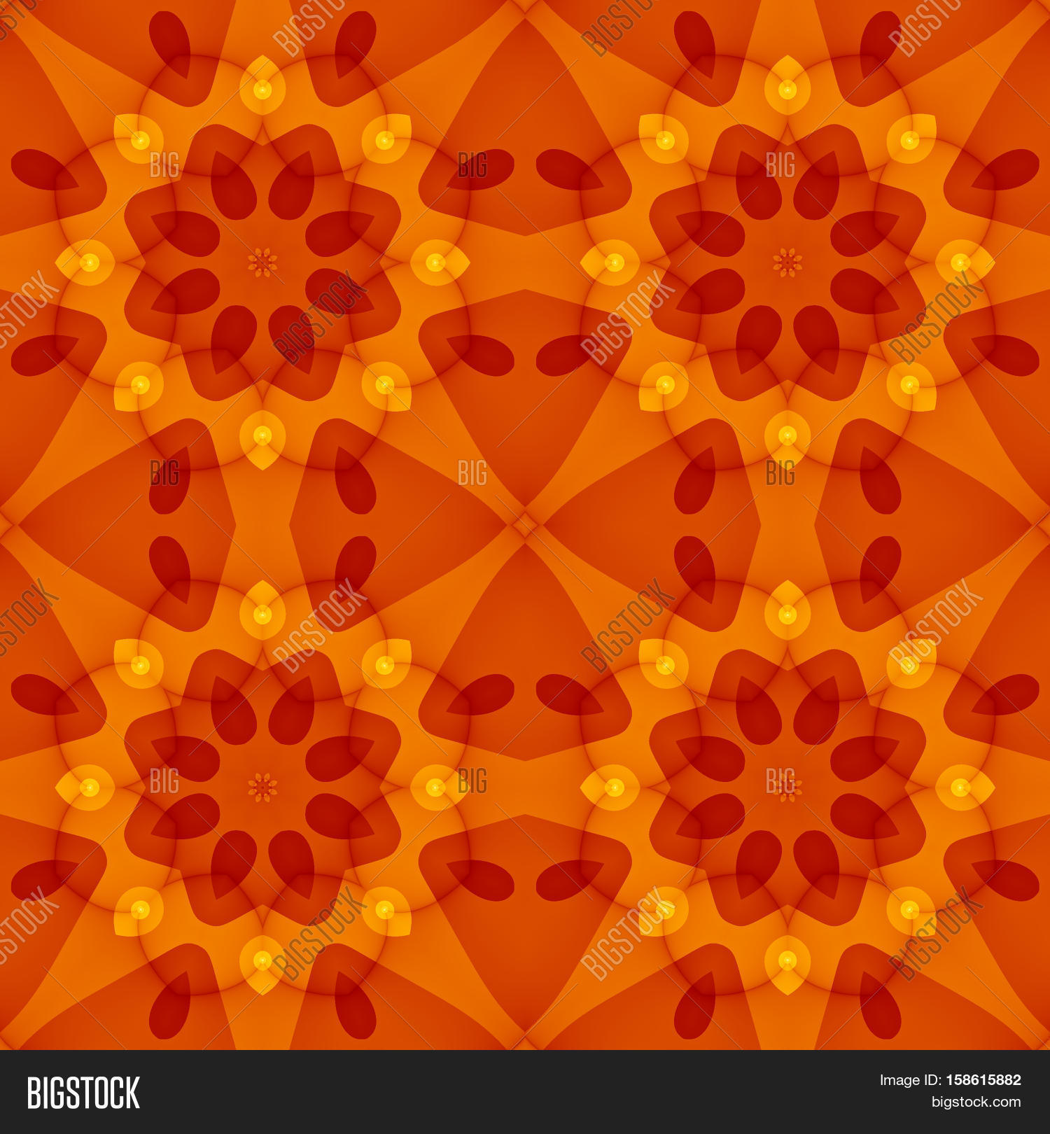 Bed sheet pattern texture - Seamless Texture With A Warm Orange Red Floral Pattern For Print On Textiles Bed Sheets