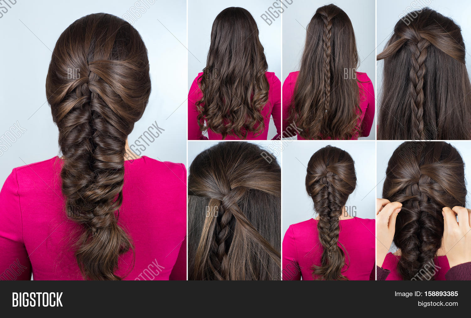 Simple Hairstyle Volume Plait On Image Amp Photo Bigstock
