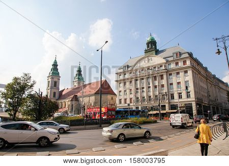 Piarist Gymnasium And Inner City Parish Church In Budapest