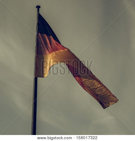 Vintage Looking German Flag