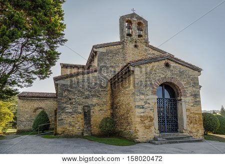San Julian de los Prados Also known as Santullano is a Pre-Ramirense church from the beginning of the 9th century in Oviedo the capital city of the Principality of Asturias Spain.