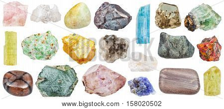 Set Of Various Mineral Stones: Orpiment, Etc