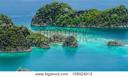 Painemo Island, Strait between Islands, Raja Ampat, West Papua, Indonesia