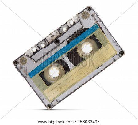 Vintage Audio Tape On White Background