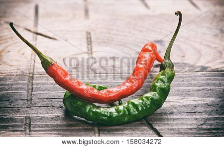Hot Red And Green Chili Or Chilli Pepper