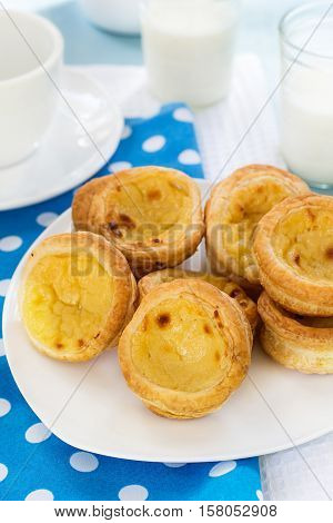 Traditional French pastry for All Saints' Day with custard creme patissiere