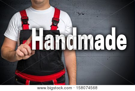 Handmade is shown by craftsmen background picture