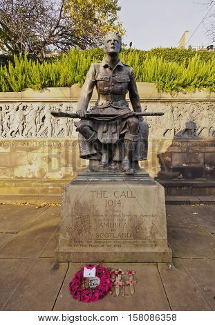 The Call 1914 Monument