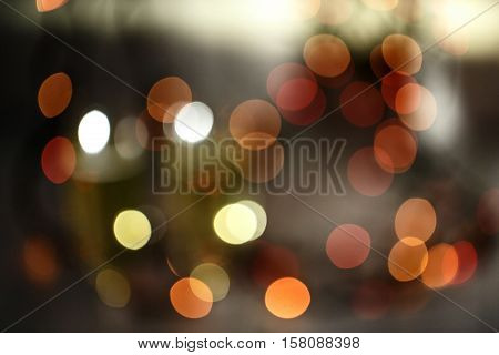 Blurred picture of the festive Christmas lights