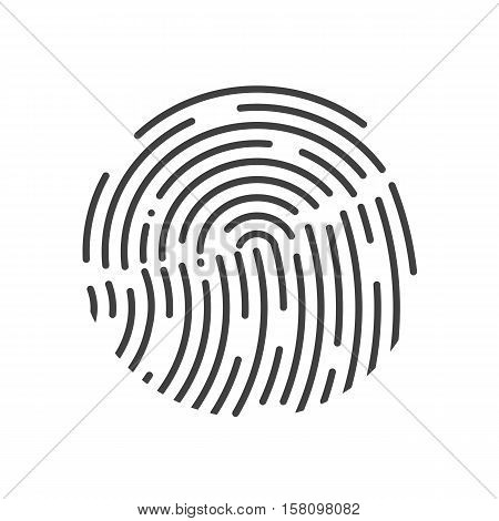 Touch Id illustration. Realistic effect. Vector illustration. Fully editable. Black-White colors.