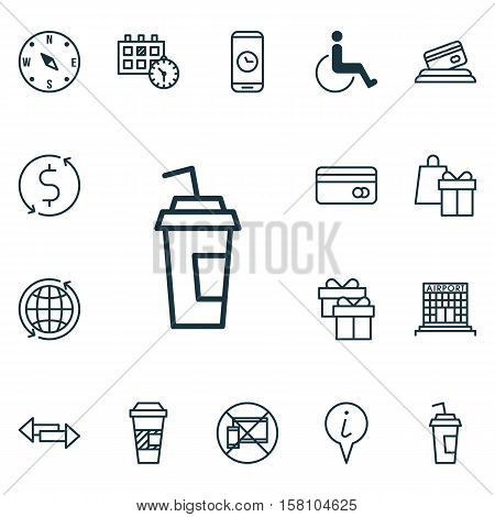 Set Of Traveling Icons On Locate, Shopping And Appointment Topics. Editable Vector Illustration. Inc
