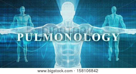 Pulmonology as a Medical Specialty Field or Department 3d Illustration Render