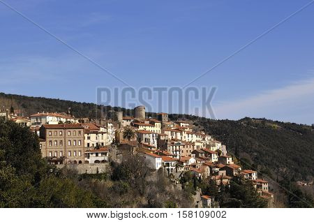 Village of Palalda Languedoc Roussillon Pyrenees Orientales France