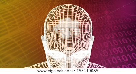 Brain Processor of a Human Mind and Memory Concept 3d Illustration Render