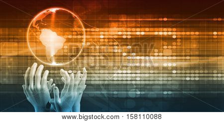 Futuristic Technology Concept as a Presentation Background 3d Illustration Render