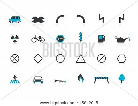 Set of traffic icons. Vector