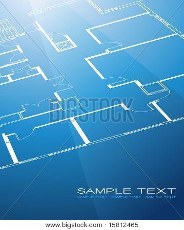 Fundo plano de arquitetura. Vector