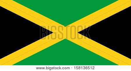 The Official vector flag of Jamaica .