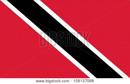 Official vector flag of Trinidad and Tobago . Republic of Trinidad and Tobago .