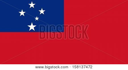 Official vector flag of Samoa . Independent State of Samoa .