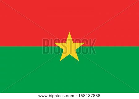 Official vector flag of Burkina Faso .