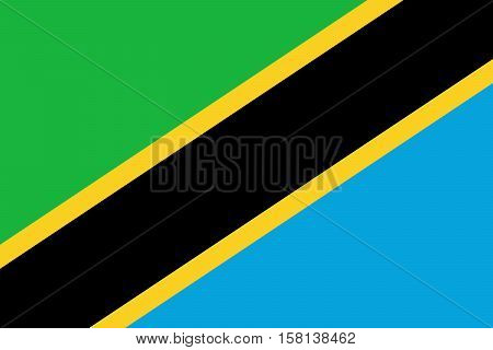 Official vector flag of Tanzania . United Republic of Tanzania .
