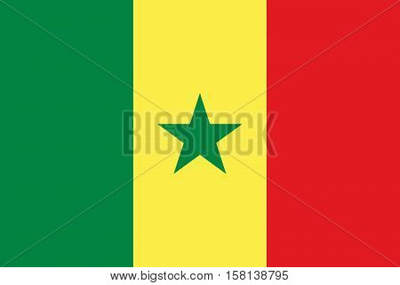 Official vector flag of Senegal . Republic of Senegal .