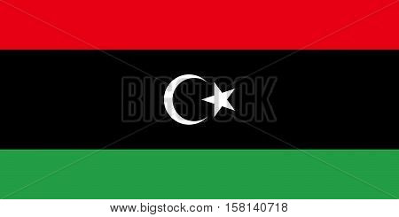 The Official vector flag of Libya .