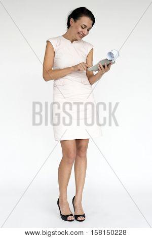 Caucasian Woman Cheerful Portrait Concept