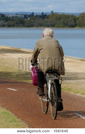 Senior On Bike