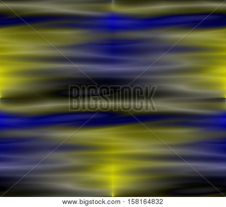 abstract background in yellow, blue, dark and light colors with lines, spots and circles, holes and ribbons